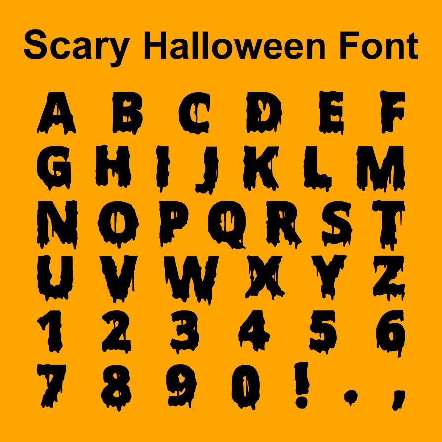 Scary Halloween Font - Phelan Riessen