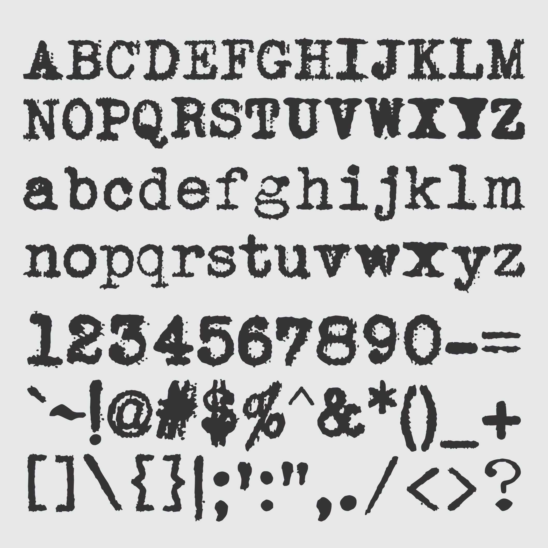 Joe Underwood Typewriter Font - Phelan Riessen
